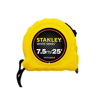 Stanley Tape White Srs 7m/25' x 25 mm (33493-8)