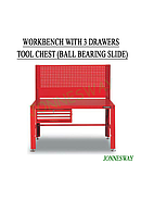 Jonnesway Workbench With 3 Drawers Tool Chest (Ball Bearing Slide)