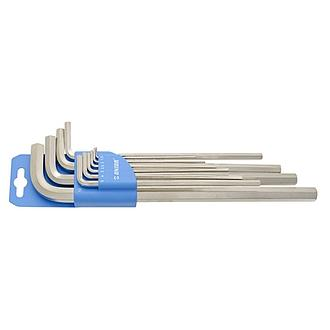 UNIOR  Set of hexagon wrenches, long type on plastic clip - 220/3LPH(Inch)