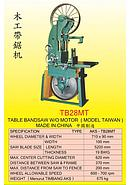 AKS Table Bandsaw W/O Motor AKS-TB28MT