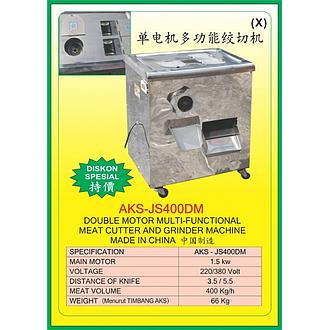AKS Double Motor Multi-Functional Meat Cutter and Grinder Machine AKS-JS400DM