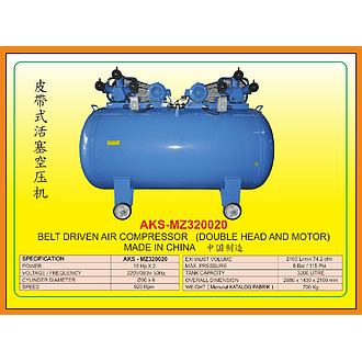 AKS Belt Driven Air Compressor (Double Head And Motor) AKS-MZ320020