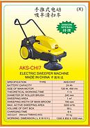 AKS Electric Sweeper Machine AKS-CHI7