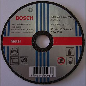 Bosch Metal Cutting Disc 100x2.5x16mm (25 pieces)