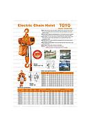 HHBD Electric Chain Hoist ( Toyo Japan ) 2 ton x 6 meter ( speed 2,8m/min ) ( 3F 380 V )