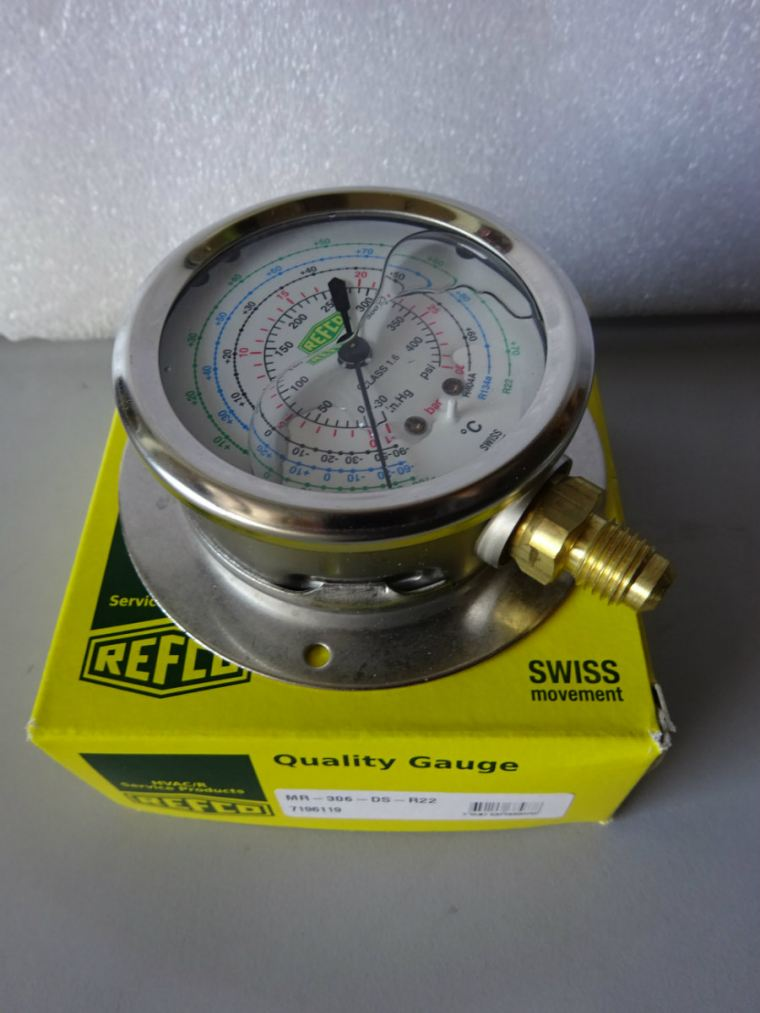 Refco Pressure Gauge MR-306-DS-R22