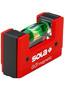 SOLA WATERPASS GO! MAGNETIC (WITH MAGNET) RED (UK.6.8 cm)